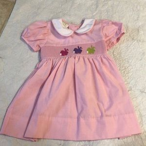 NWOT Lolly Wolly Doodle Smocked Bunny Dress